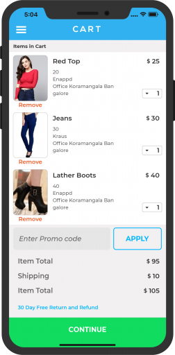 Ecommerce App Development