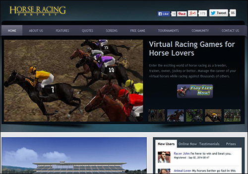 Horse Racing -An online community application that helps bind the